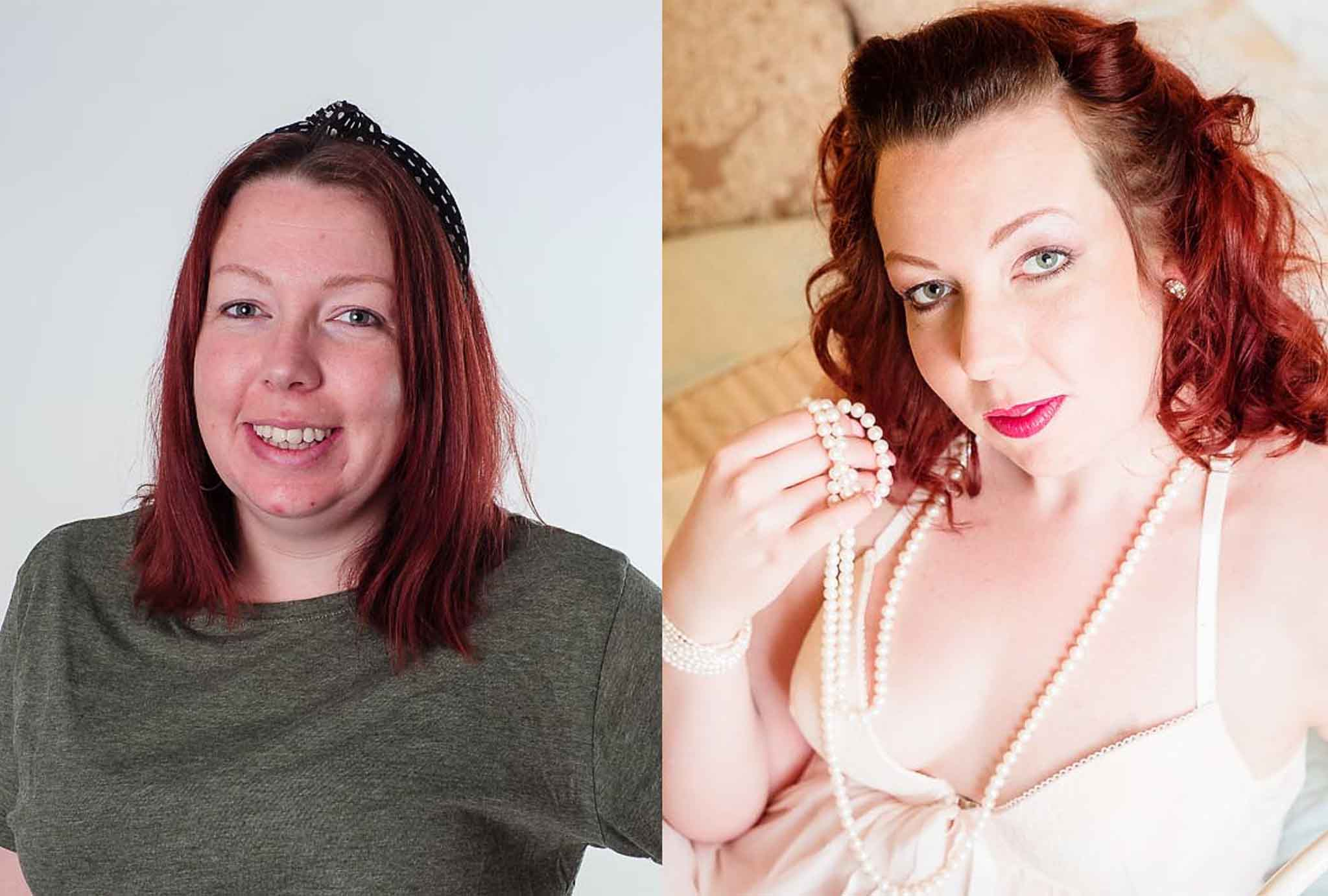 before and after boudoir photoshoot 20