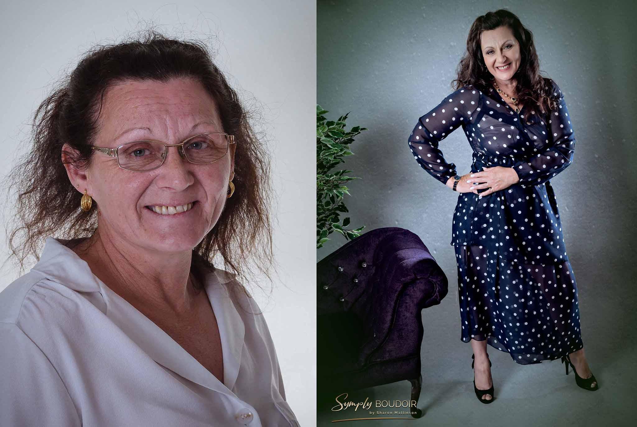 boudoir shoot for older ladies